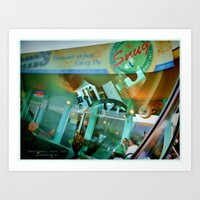 Windshield Reflection  Art Print