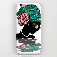 Goggley Girl iPhone & iPod Skin