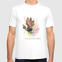 These Are Not Fish Finge… Mens Fitted Tee White SMALL