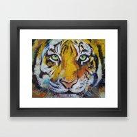 Tiger Psy Trance Framed Art Print
