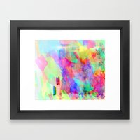 Neon Wash Framed Art Print