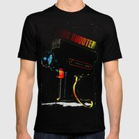 Retro Shooter Mens Fitted Tee Black SMALL