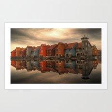 Reitdiephaven Groningen, The Netherlands Art Print