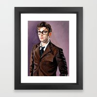 The Tenth Doctor Framed Art Print