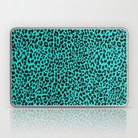 Neon Turquoise Leopard Laptop & iPad Skin
