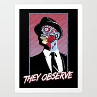 They Observe Art Print