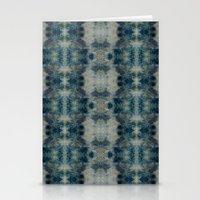 Dark Blue Kaleidoscopic Stationery Cards