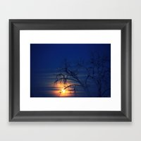 Penumbral Lunar Rising Framed Art Print