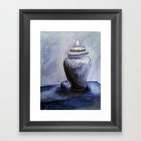 Blue Vase Framed Art Print