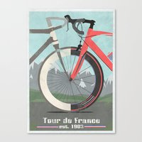 Tour De France Bicycle Canvas Print