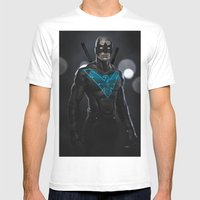 Nightwing 02 Mens Fitted Tee White SMALL