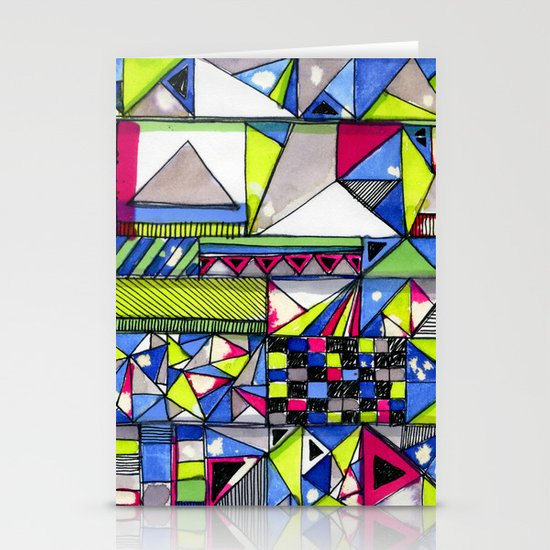 Neon Textures Stationery Card