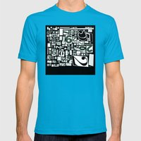 Numbers By Friztin Mens Fitted Tee Teal SMALL