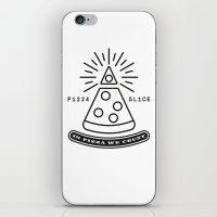 Dollar Slice WHITE iPhone & iPod Skin