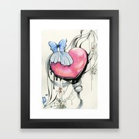 Butterfly Heart Framed Art Print