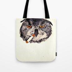 art student owl watercolour Tote Bag