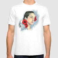 Poppy Of The Sea Mens Fitted Tee White SMALL