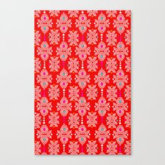 Stella in Red Pattern Canvas Print