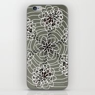 iPhone & iPod Skin featuring Floral Fractal-0002 by Palas Kumar Ray