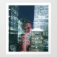 City Reflection Art Print