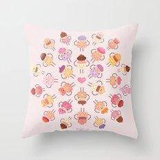 Cupcake Mandala Throw Pillow