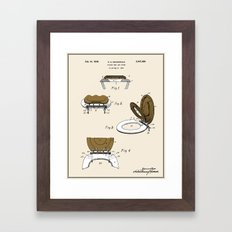 Toilet Seat and Cover Patent - Colour Framed Art Print