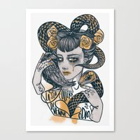 the Golden Hate Canvas Print
