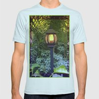 Lamp Light Mens Fitted Tee Light Blue SMALL