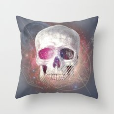 Astral Skull Throw Pillow