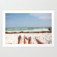 Feet In The Sand Art Print