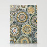 Boho Patchwork-Mineral C… Stationery Cards