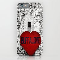 Buffalo Love black white and red iPhone 6 Slim Case