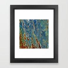 Blue Archetypal Structures Framed Art Print