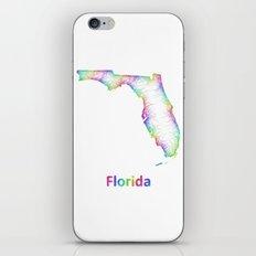 Rainbow Florida map iPhone & iPod Skin