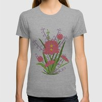 Indian Lotus Womens Fitted Tee Athletic Grey SMALL