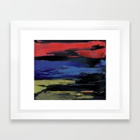 Primary Night Sky Framed Art Print