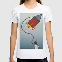 Rocketman Womens Fitted Tee Ash Grey SMALL