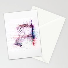 Watercolor Wash Zebra Stationery Cards