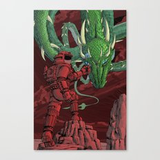The Dragon on Mars Canvas Print