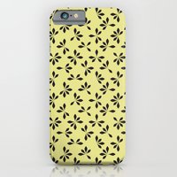 iPhone & iPod Case featuring loves me loves me not pattern - banana yellow by ravynka