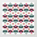 Bulgarian embroidery pattern 02 Canvas Print