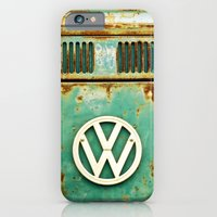 vw iPhone & iPod Cases featuring VW Retro by Alice Gosling