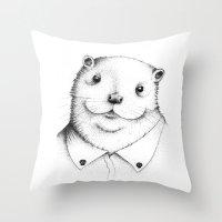 Cute Otter ! Throw Pillow