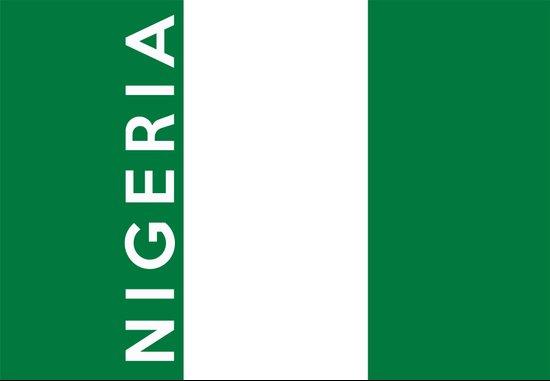 Nigeria country flag name text  Art Print