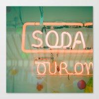 Soda Canvas Print