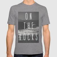 On The Rocks Mens Fitted Tee Tri-Grey SMALL