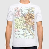 European tour Mens Fitted Tee Ash Grey SMALL