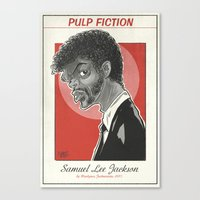 Samuel Lee Jackson caricature Canvas Print
