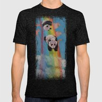 Rainbow Mens Fitted Tee Tri-Black SMALL