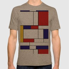 Mondrain Mens Fitted Tee Tri-Coffee SMALL
